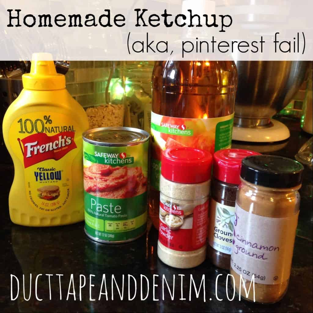 Homemade ketchup or catsup, aka Pinterest fail | DuctTapeAndDenim.com
