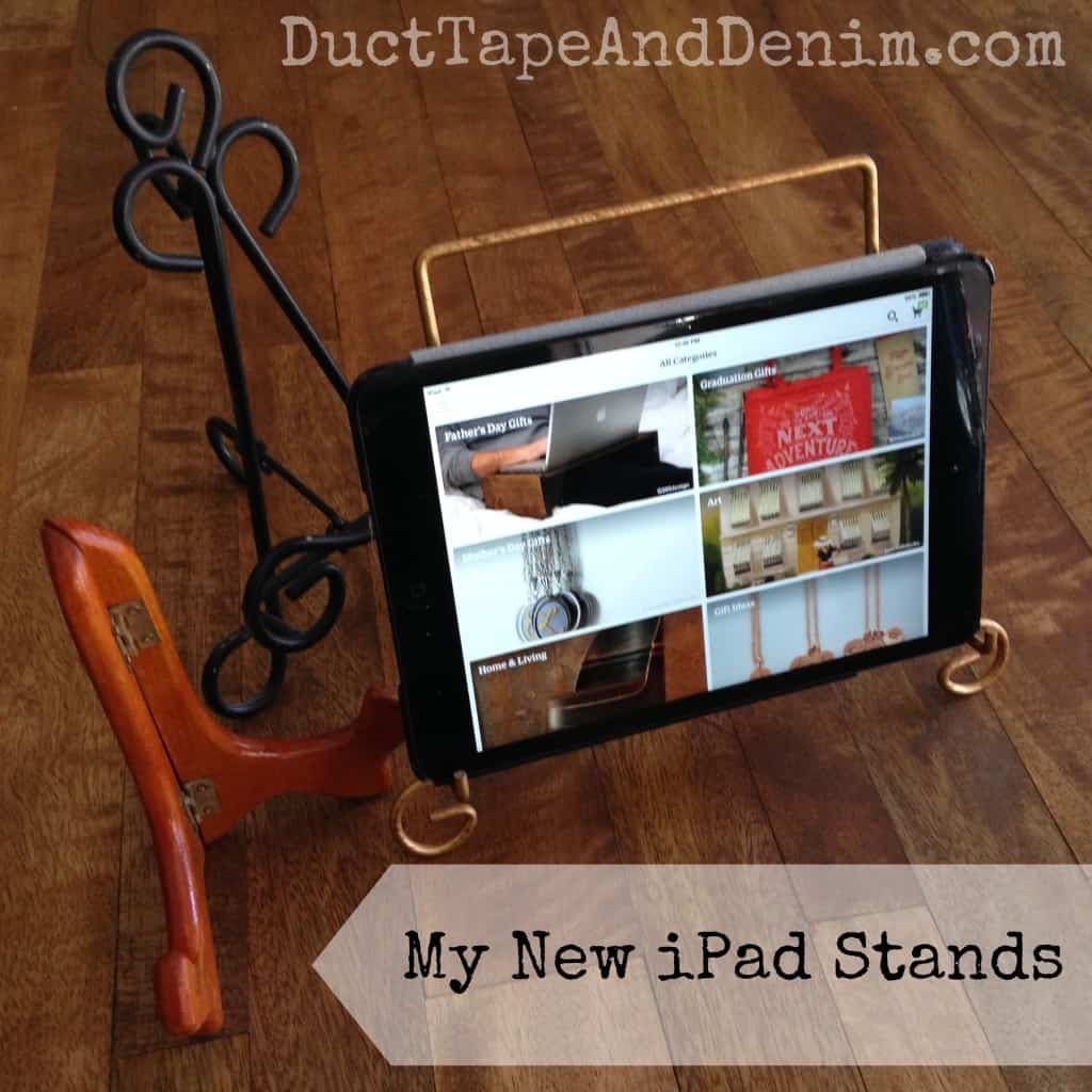 My new iPad and iPhone stands | DuctTapeAndDenim.com