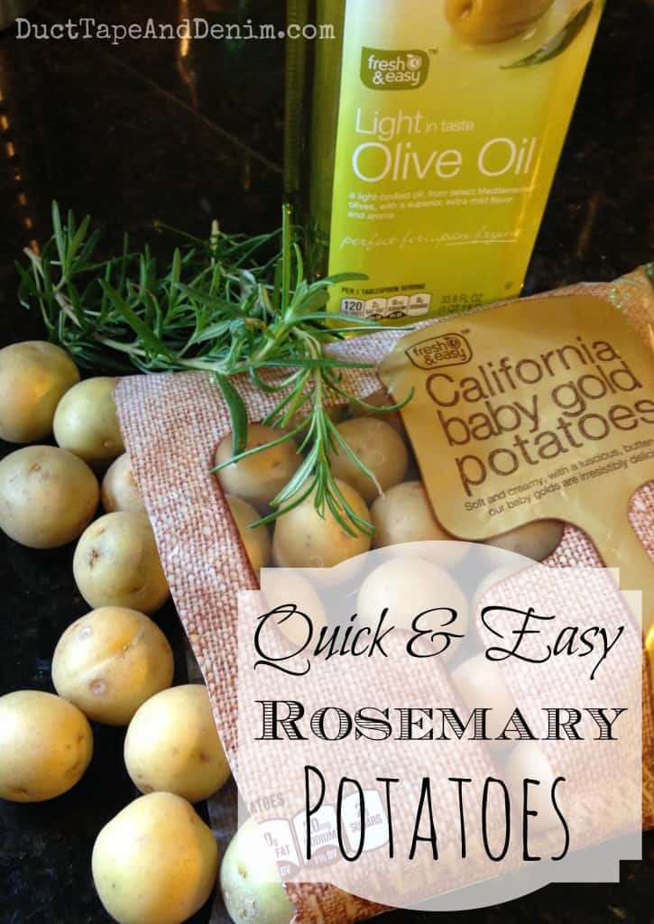 Quick easy roasted rosemary potatoes recipe title | DuctTapeAndDenim.com.jpg