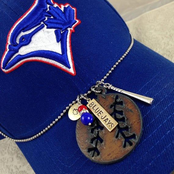 I Love Baseball necklace for Toronto Blue Jay fan | DuctTapeAndDenim.etsy.com