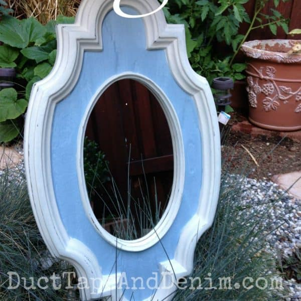 After painting mirror from thrift store | DuctTapeAndDenim.com