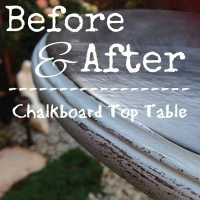 Chalkboard Table Makeover