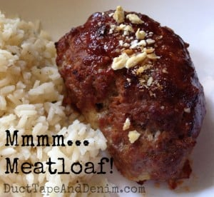 Mmmmmm... my favorite meatloaf recipe | DuctTapeAndDenim.com