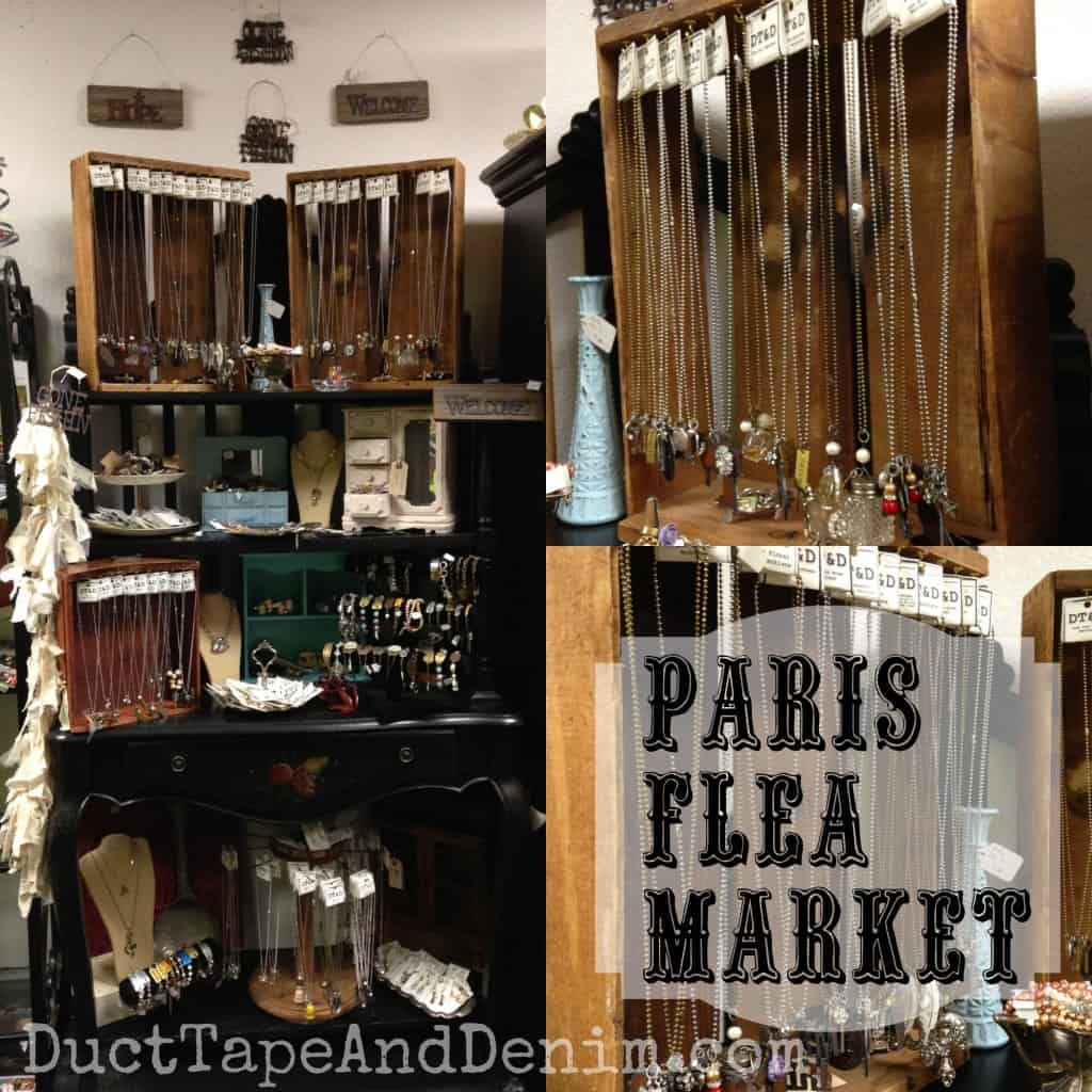 My shelf at Paris Flea Market in Livermore, California | DuctTapeAndDenim.com