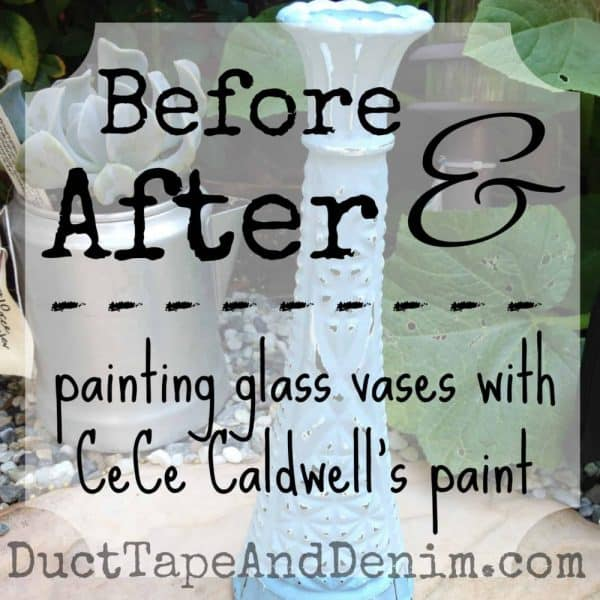 how to paint glass vases SQUARE