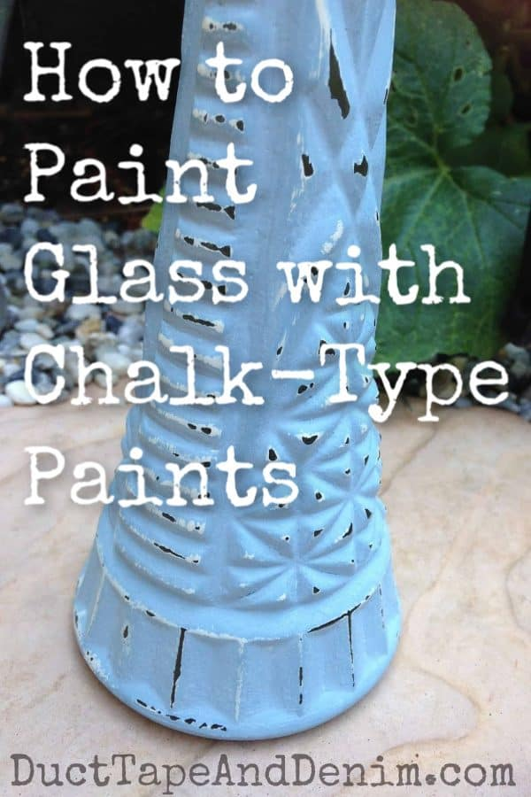how to paint glass with chalk-type paints TITLE