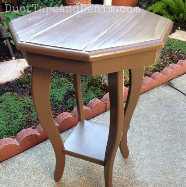 BEFORE painting octagon table from garage sale
