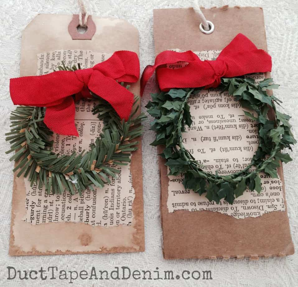 Wreath Christmas Gift Tag Tutorial | Christmas Tutorial