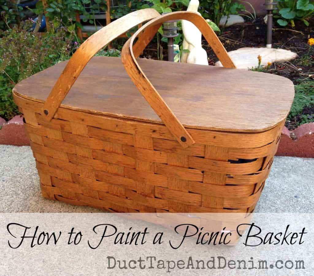 How to paint a picnic basket   DuctTapeAndDenim.com