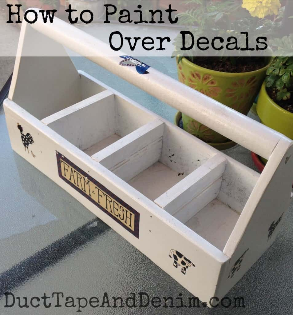 How to paint over decals | DuctTapeAndDenim.com