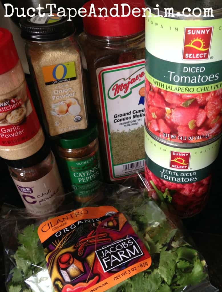 Ingredients for homemade salsa | DuctTapeAndDenim.com