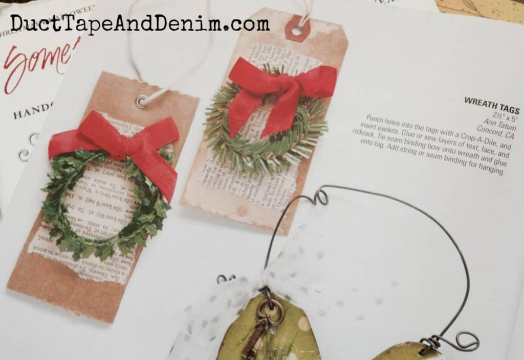 My Christmas wreath gift tags in Somerset magazine