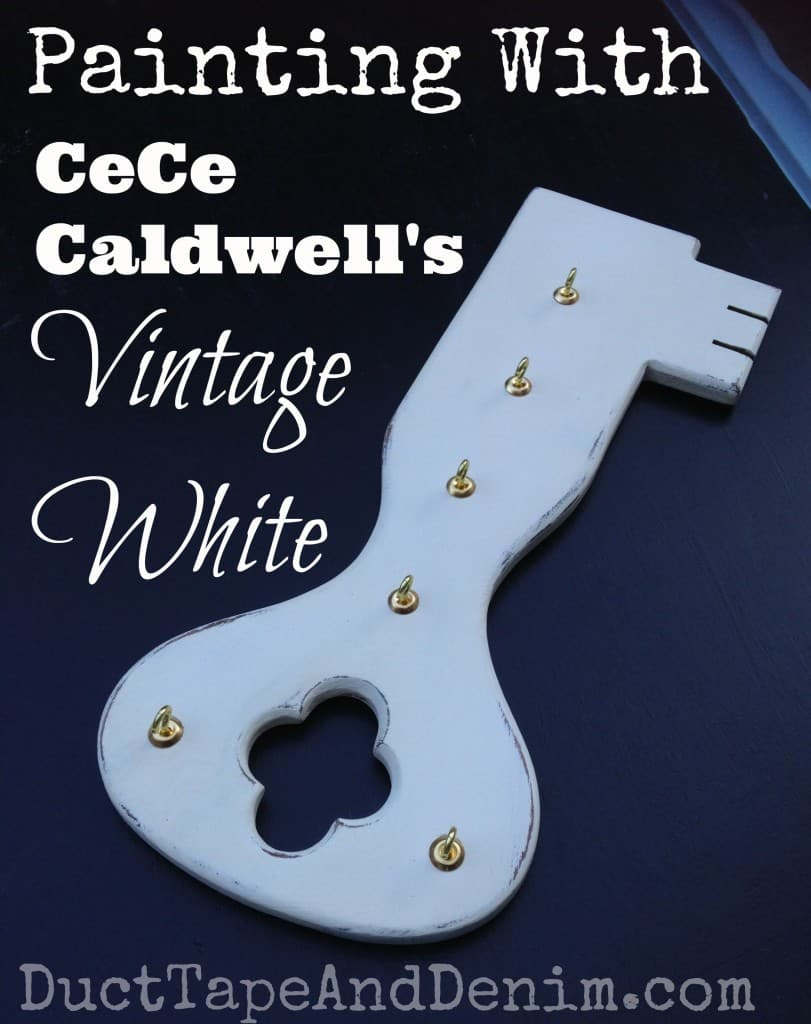Painting with CeCe Caldwell's Vintage White natural chalk and clay paint | DuctTapeAndDenim.com