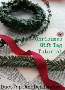 Supplies for the Christmas gift tag tutorial | DuctTapeAndDenim.com
