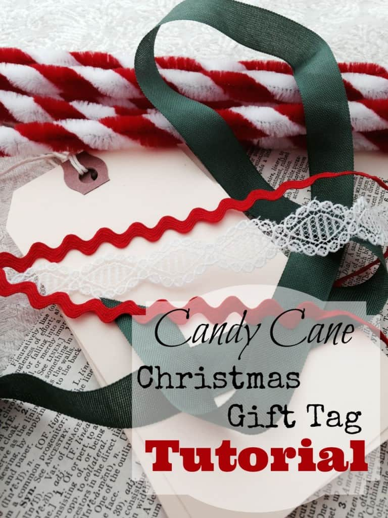 Tutorial for making my candy cane Christmas gift tags