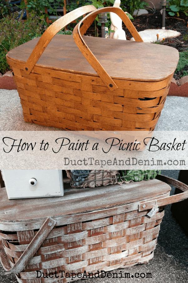 How to paint a picnic basket | DuctTapeAndDenim.com