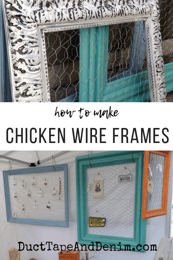 how to make chicken wire frames, collage 1
