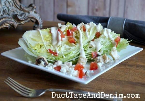 Chicken ranch wedge salad | DuctTapeAndDenim.com