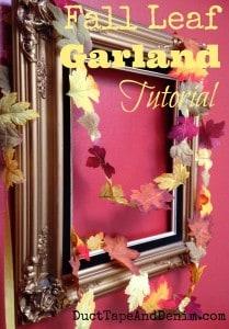 Fall Leaf Garland Tutorial | DuctTapeAndDenim.com