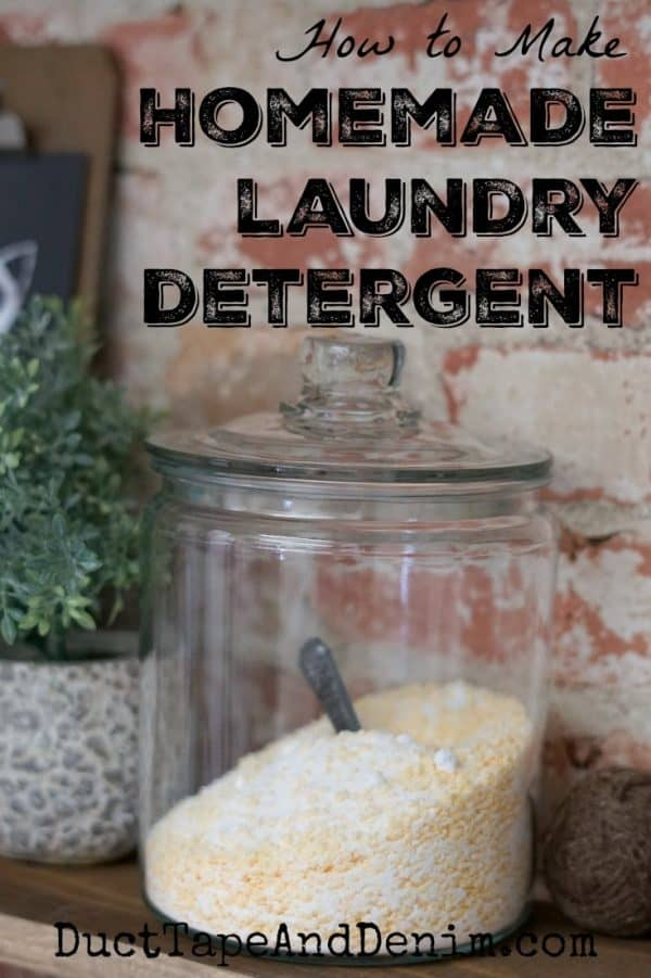 How to make homemade laundry detergent. Save money with this powdered laundry detergent. | DuctTapeAndDenim.com