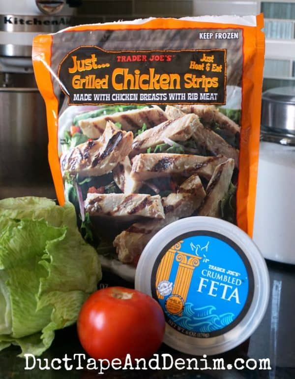 Ingredients for wedge salad