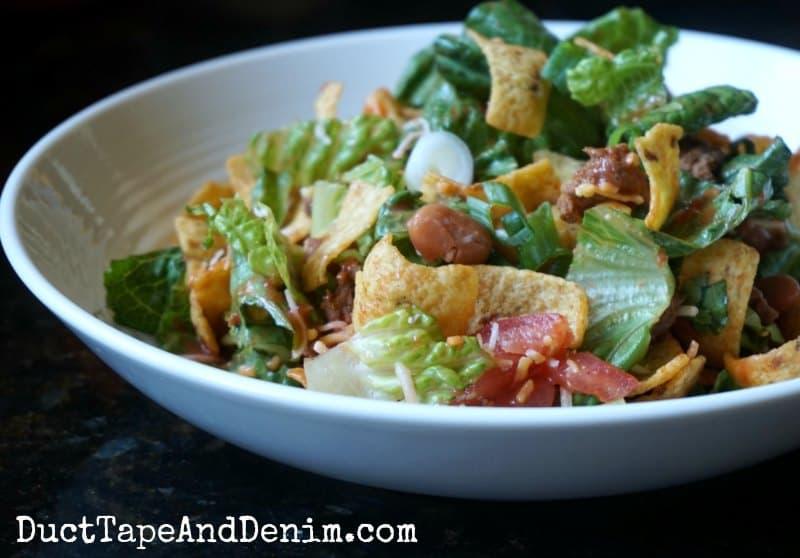 Taco salad recipe | DuctTapeAndDenim.com