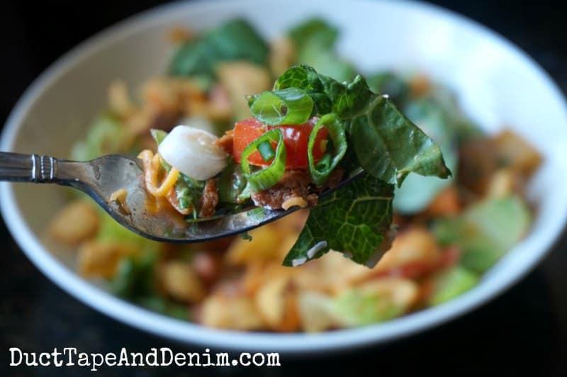Taco salad with Fritos | DuctTapeAndDenim.com