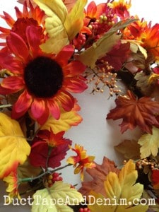 These are the flowers I started with to make my fall leaf garland
