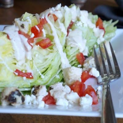 Chicken Ranch Wedge Salad