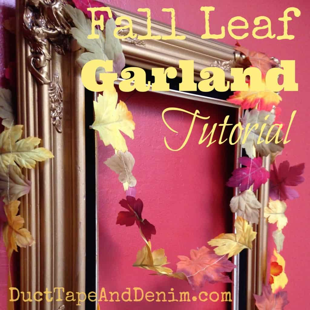 Fall Leaf Garland Tutorial sq | DuctTapeAndDenim.com