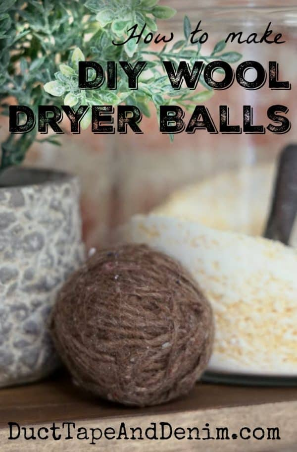 How to make DIY homemade dryer balls with leftover wool yarn. | DuctTapeAndDenim.com