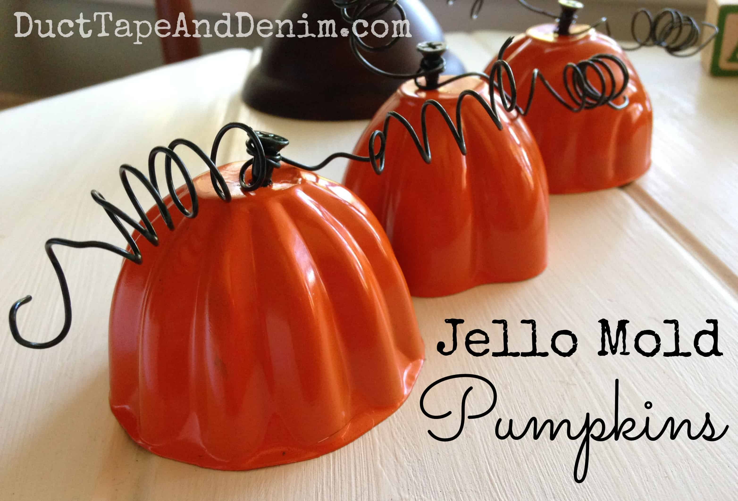 Jello Mold Pumpkins | Upcycled Fall DIY Project with Spray Paint