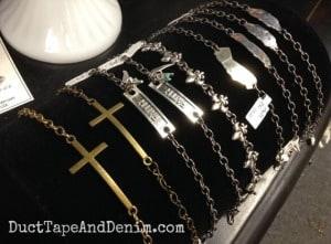 More bracelets on my shelf at Paris Flea Market | DuctTapeAndDenim.com
