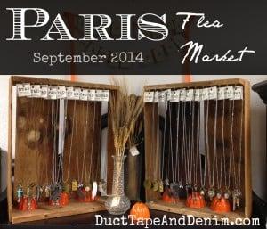 Paris Flea Market displays, September 2014 | DuctTapeAndDenim.com
