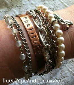 Arm party with sentimental bracelets | DuctTapeAndDenim.com