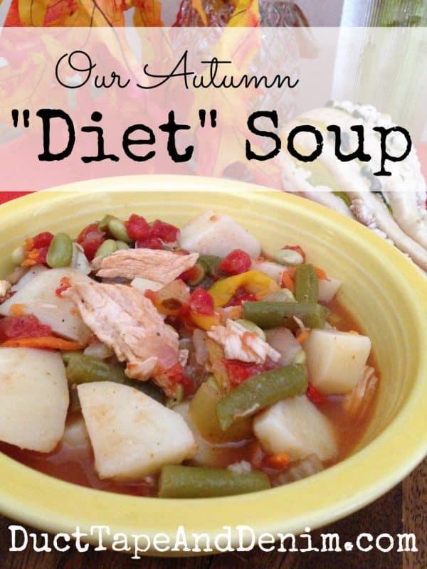 Our Autumn Diet Soup Recipe | DuctTapeAndDenim.com