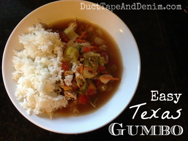 Easy Texas gumbo recipe and other soup and stew recipes on DuctTapeAndDenim.com