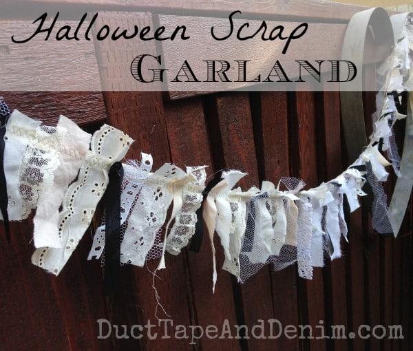 Halloween Fabric Scrap Garland Tutorial