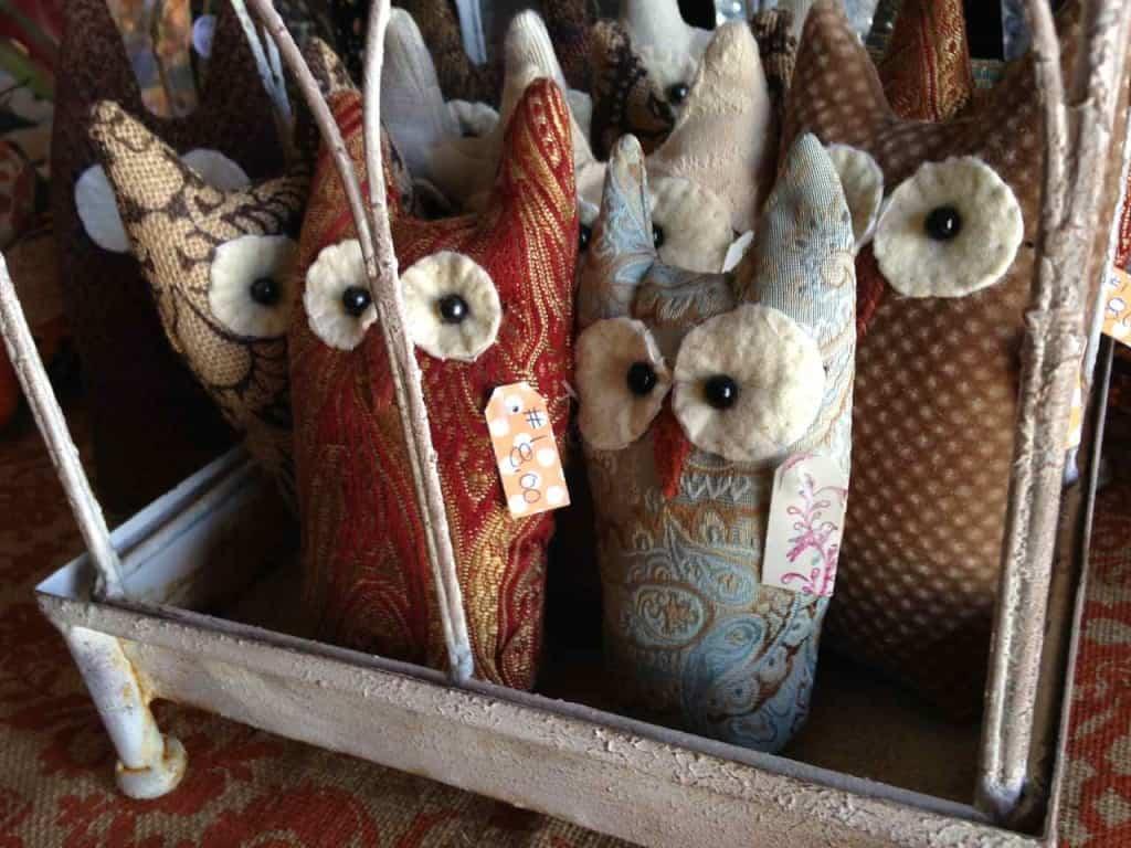 Stuffed owls at Almond Blossom Barn Boutique | DuctTapeAndDenim.com