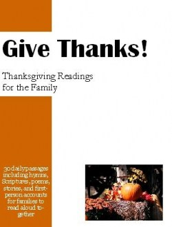 Give Thanks - Thanksgiving Book, readings for the family | DuctTapeAndDenim.com