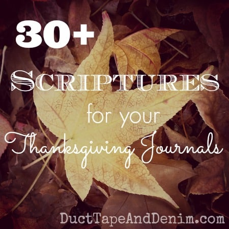 30 Scriptures for your Thanksgiving Journals | DuctTapeAndDenim.com
