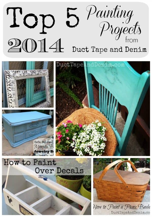 Top 5 Painting Projects from 2014 | DuctTapeAndDenim.com