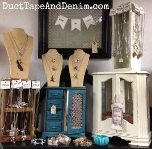 Top shelf at Paris Flea Market | DuctTapeAndDenim.com