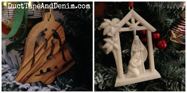 Two nativity ornaments. See the rest of my collection on DuctTapeAndDenim.com