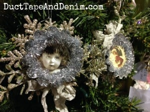 Vintage tart tin Christmas ornaments at Paris Flea Market | DuctTapeAndDenim.com