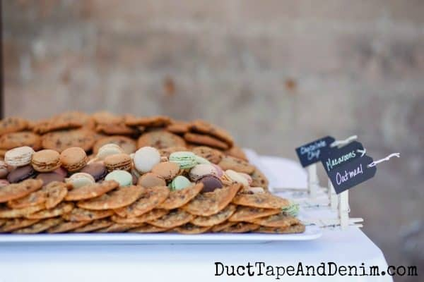 Cookie Tray at Jordann's wedding | DuctTapeAndDenim.com