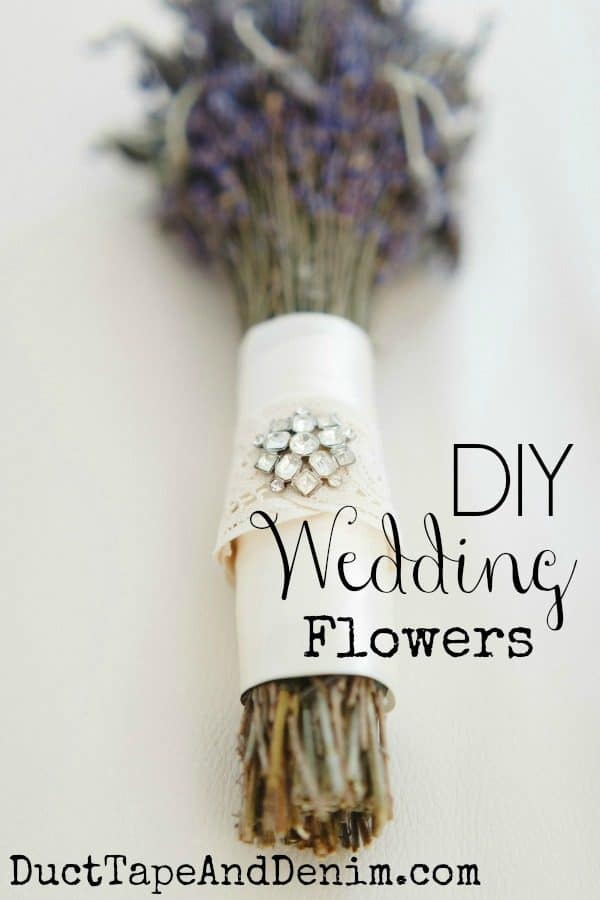 DIY Wedding Flowers, how to make wedding bouquets with dried flowers | DuctTapeAndDenim.com