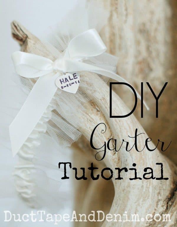 How to make a garter for your beautiful handmade DIY wedding. | DuctTapeAndDenim.com