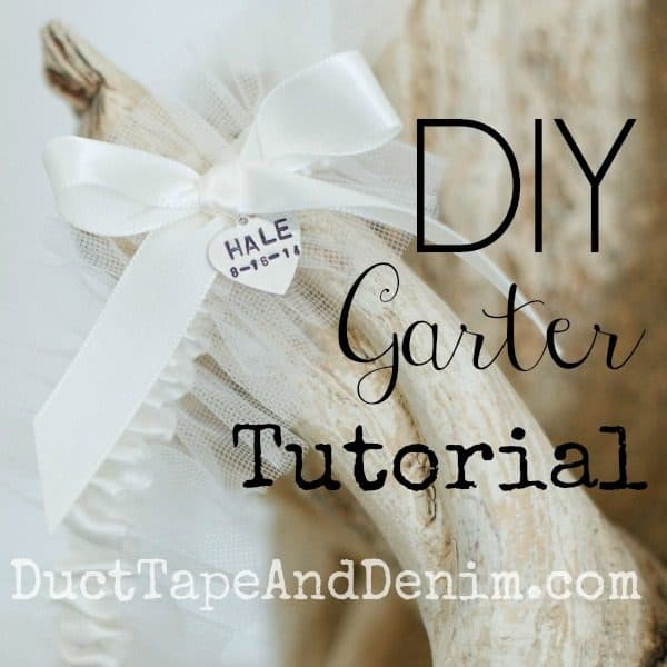 How to make a garter for your DIY wedding. Tutorial on DuctTapeAndDenim.com