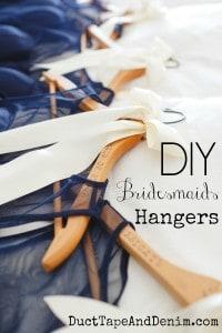 DIY bridesmaids hangers | DuctTapeAndDenim.com